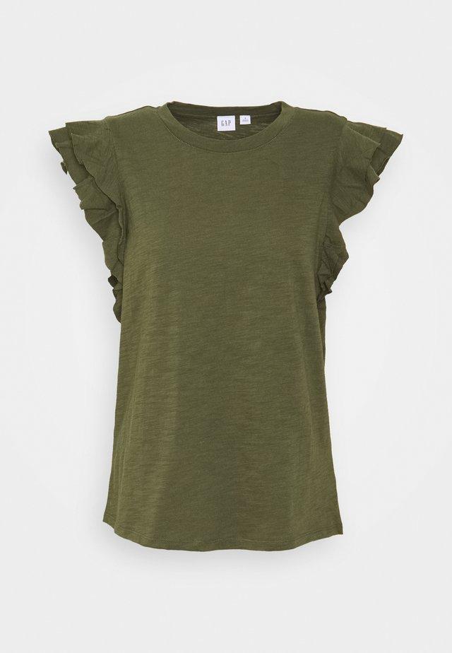 RUFFLE - T-shirt print - army jacket green