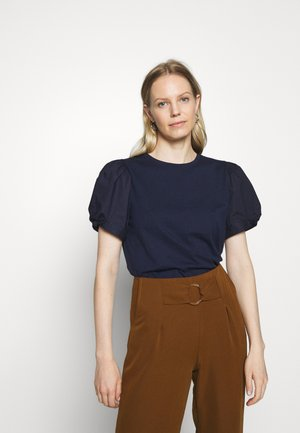 MIX PUFF - Print T-shirt - navy uniform