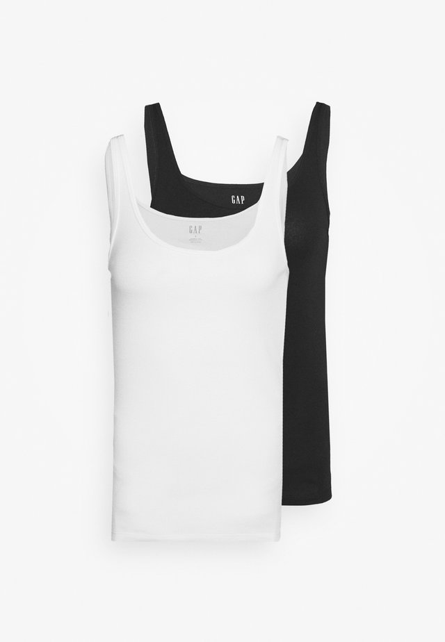 FAV TANK 2 PACK - Top - true black
