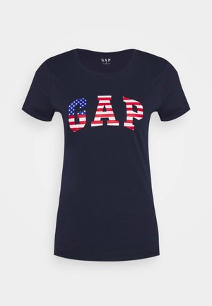 FLAG TEE - T-shirt med print - navy uniform