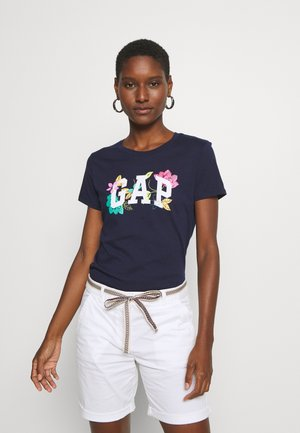 FRANCHISE FLORAL TEE - T-shirts med print - navy uniform