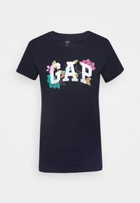 GAP - FRANCHISE FLORAL TEE - T-shirts med print - navy uniform - 4