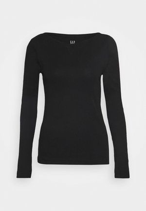 BOATNECK - Topper langermet - true black