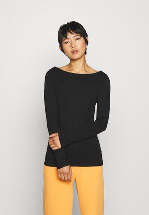 BOATNECK - Long sleeved top - true black