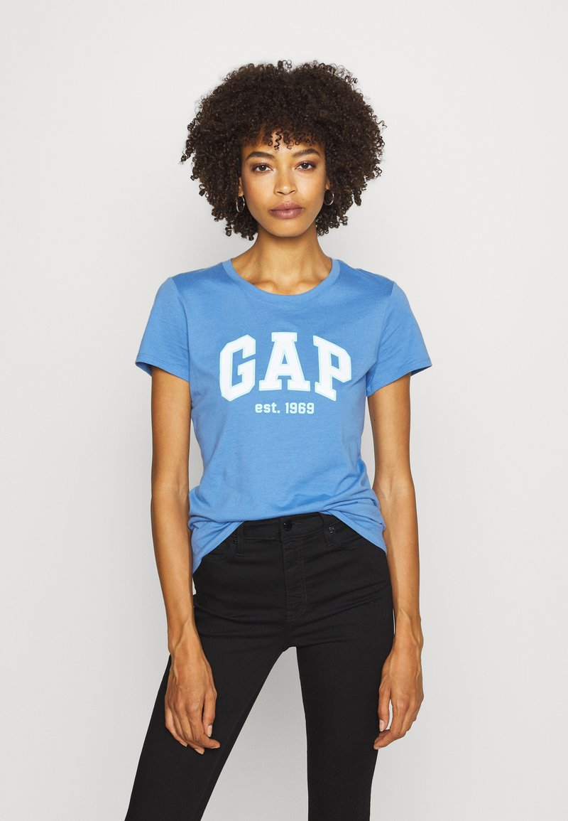 GAP - OUTLINE TEE - T-shirt z nadrukiem - cabana blue