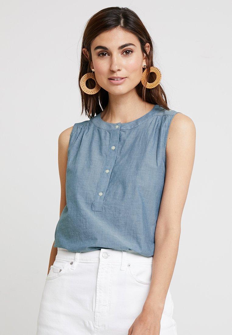 GAP - FEMME POPOVER CHAMBRAY - Bluse - medium indigo