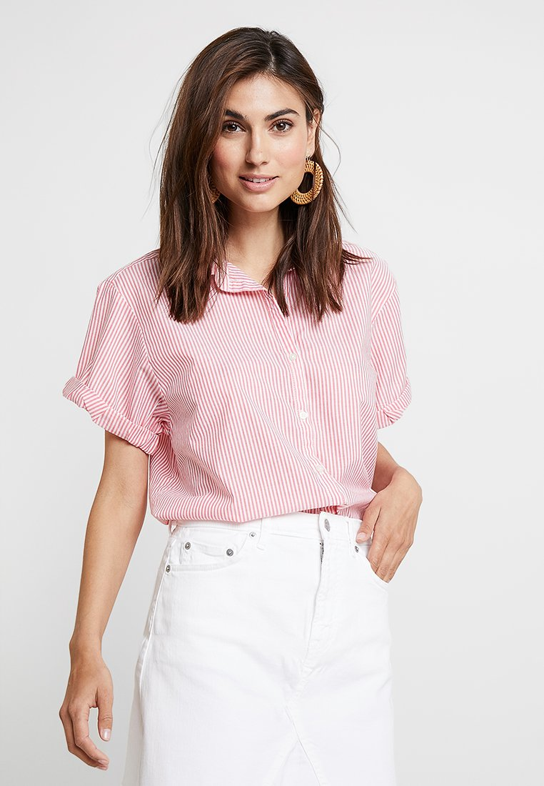 GAP - ROLL CUFF - Button-down blouse - red