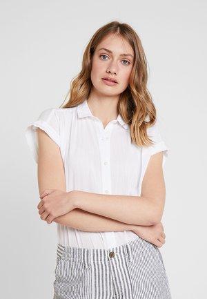 DRAPY - Button-down blouse - optic white