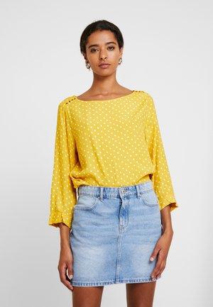BUTTON - Blouse - yellow/milk