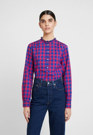 POPOVER - Blouse - red/navy plaid