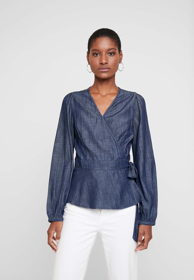 GAP - Blouse - rinse washed indigo