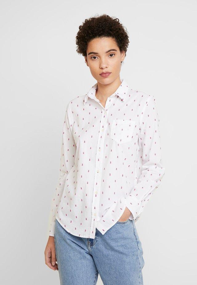 Button-down blouse - pink/burgundy