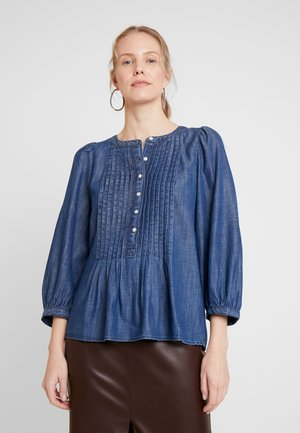 3/4 SLEEVE PLEAT POPOVER BLOUSE - Blouse - dark indigo