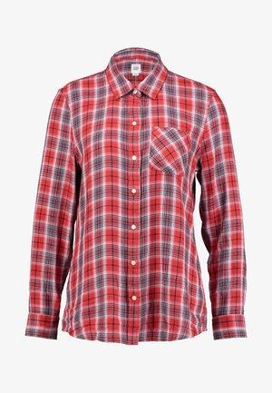DRAPEY PLAID - Button-down blouse - red blue