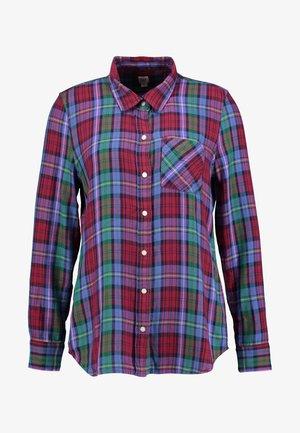DRAPEY PLAID - Button-down blouse - purple plaid combo