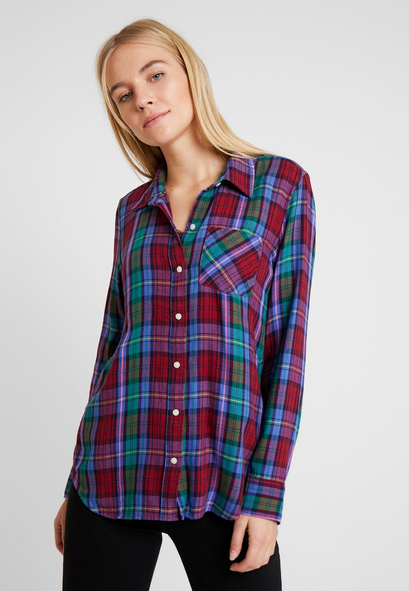 GAP - DRAPEY PLAID - Paitapusero - purple plaid combo