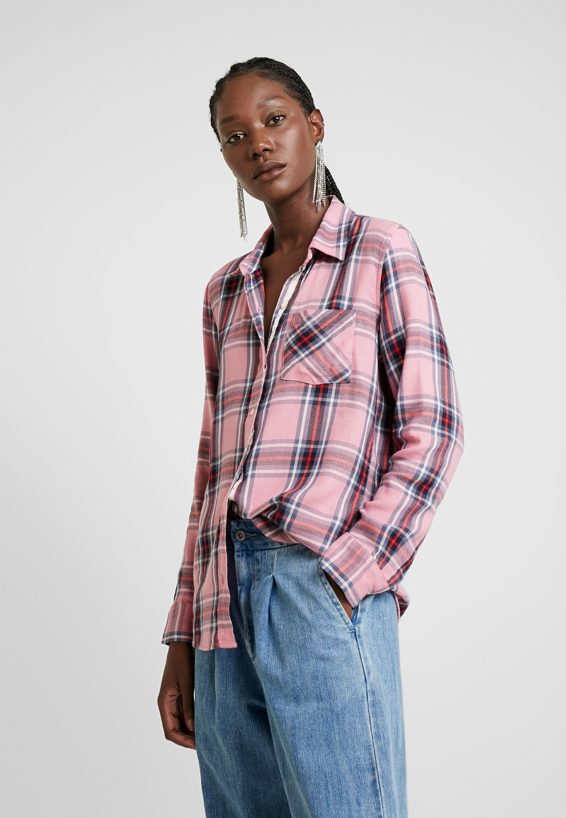 GAP DRAPEY PLAID - Skjorte - pink
