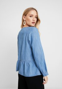 GAP - PEPLUM - Blouse - medium indigo - 2
