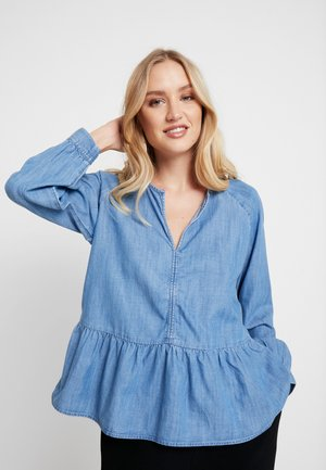 PEPLUM - Blouse - medium indigo