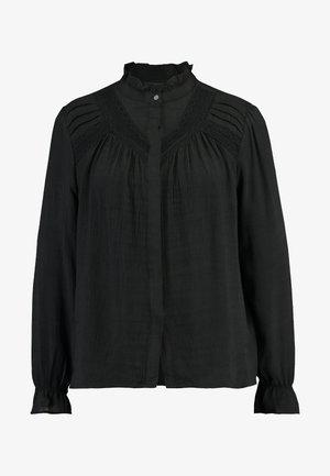 Button-down blouse - true black
