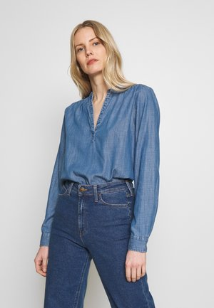 DRAPEY POPOVER - Blouse - medium indigo