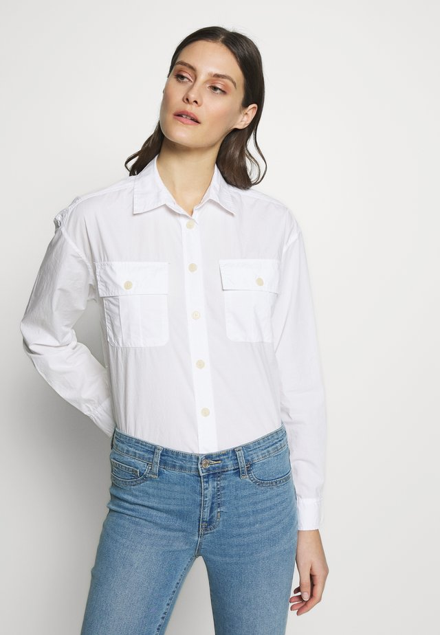 CAMP SHIRT - Button-down blouse - optic white