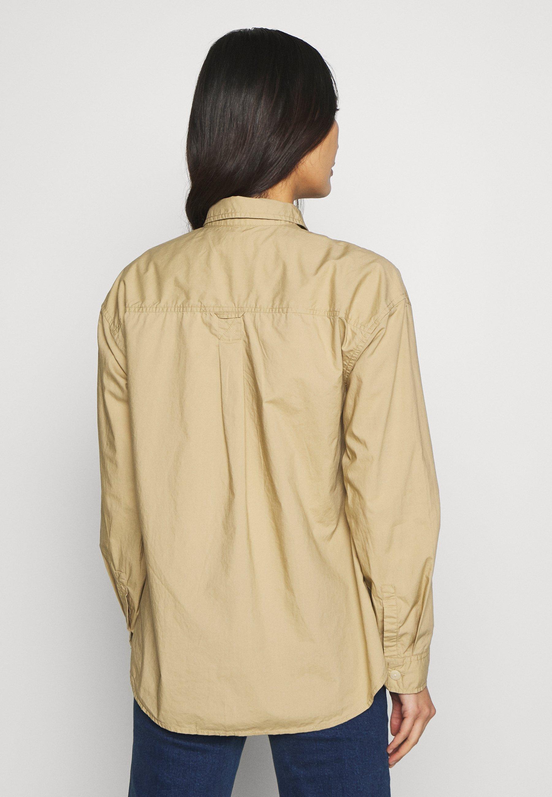 GAP CAMP SHIRT - Skjorte - khaki