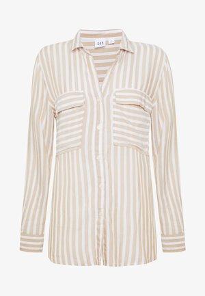 V-DRAPEY UTILITY SHIRT STP - Overhemdblouse - beige stripe