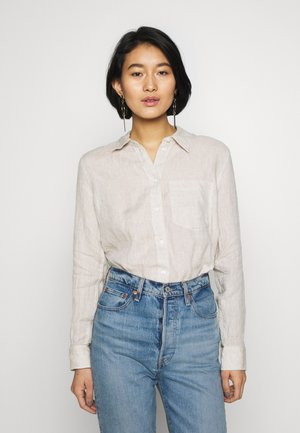 Button-down blouse - flax