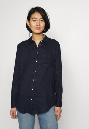 Button-down blouse - navy uniform