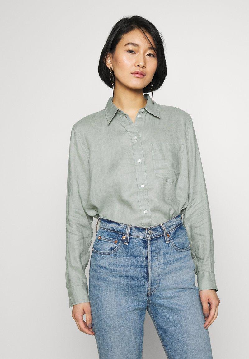 GAP - Button-down blouse - sage