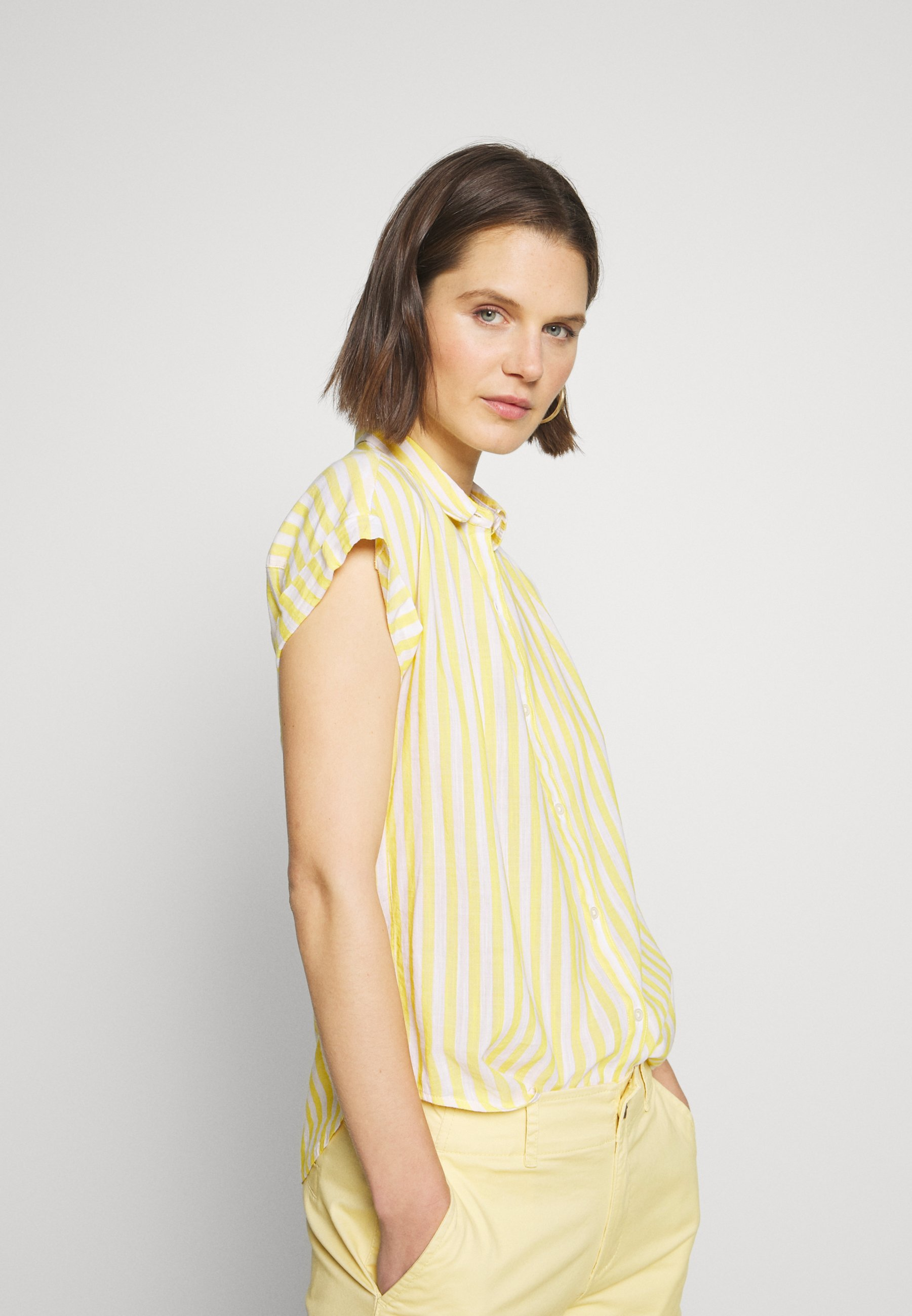 GAP DRAPEY - Skjorte - yellow