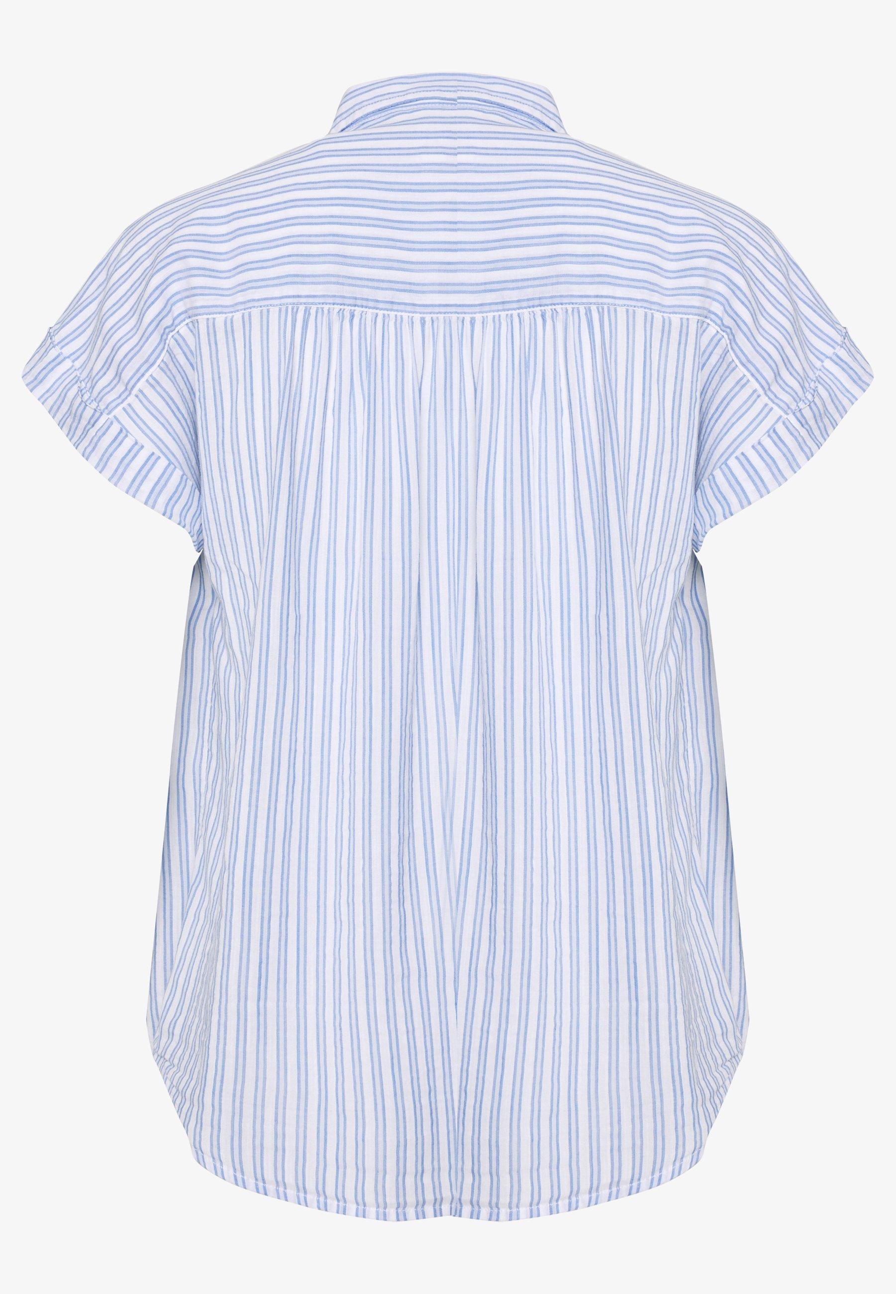 GAP DRAPEY - Button-down blouse - blue a6ntR