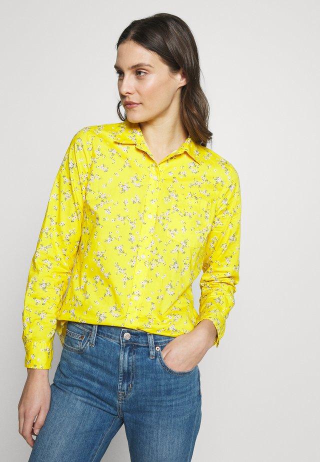 Button-down blouse - mini yellow