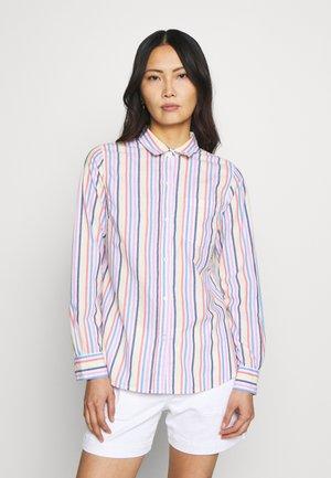 Button-down blouse - multi stripe