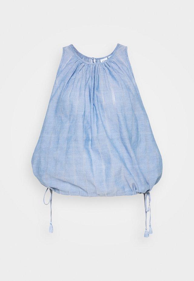 BUBBLE DOBBY - Bluzka - blue chambray