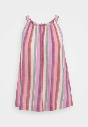 TIE BACK TOP - Blouse - pink stripe