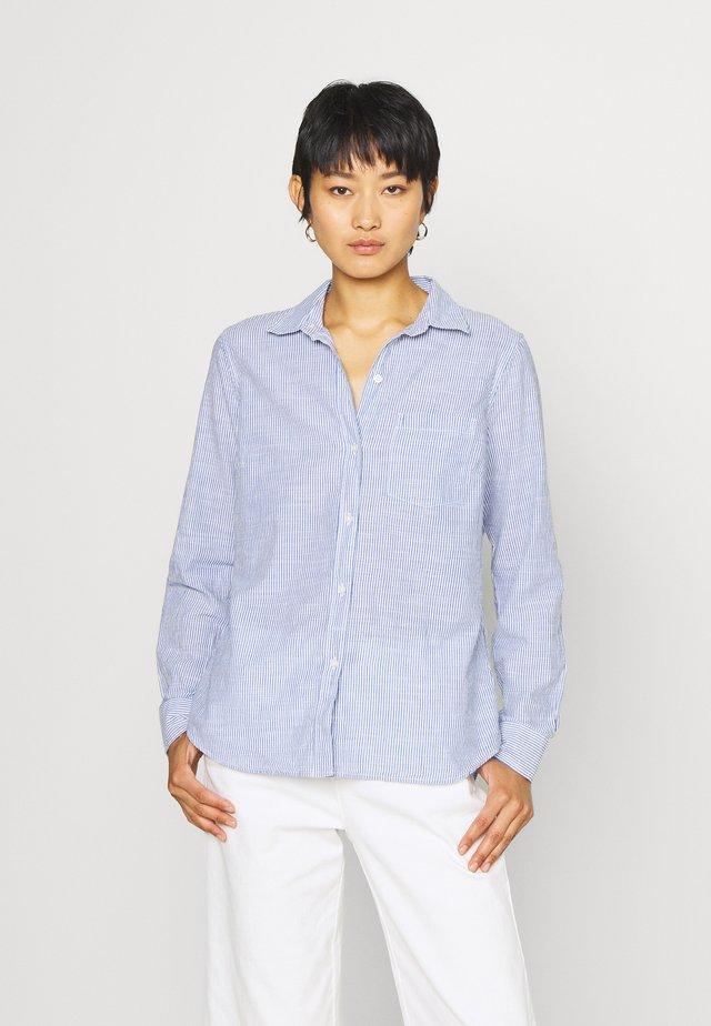 SLUB - Button-down blouse - blue