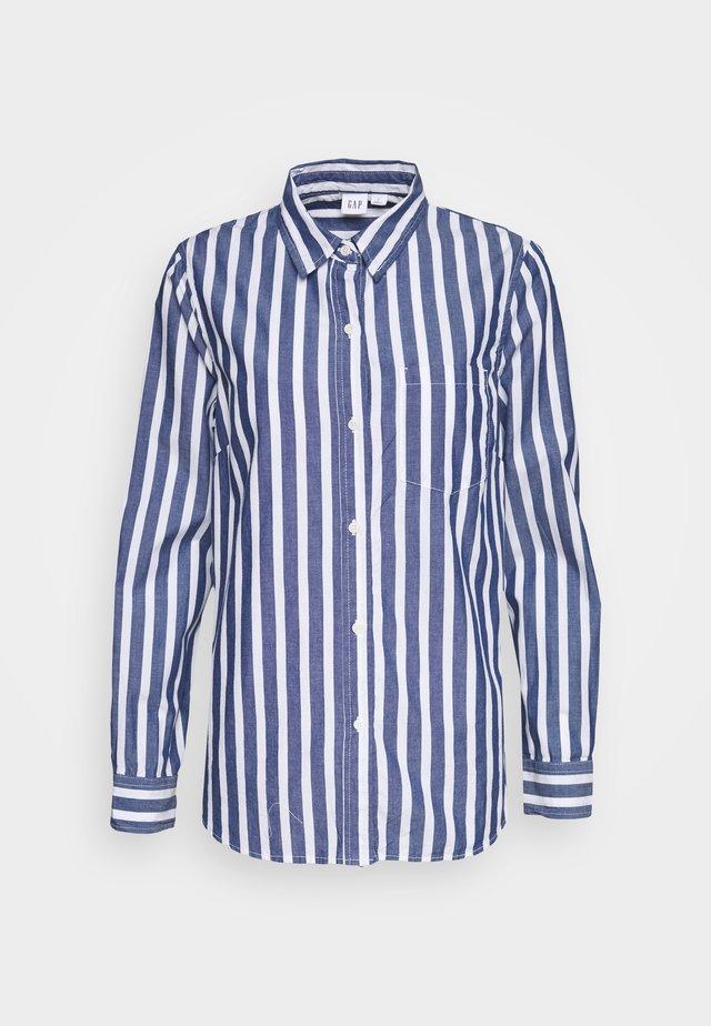 Button-down blouse - bold blue