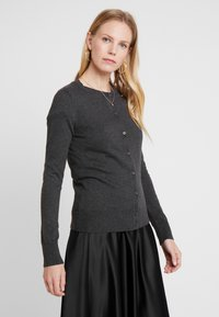 GAP - CREW CARDI - Vest - charcoal heather - 0