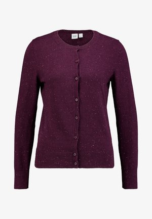 CREW CARDI - Cardigan - plum/heather