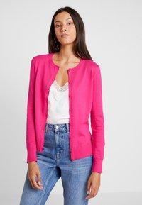 GAP - CREW CARDI - Chaqueta de punto - pink hibiscus - 0