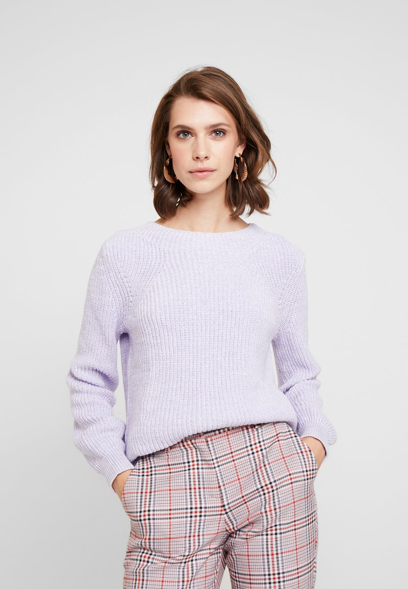 GAP - SHAKER CREW - Jumper - grape jelly