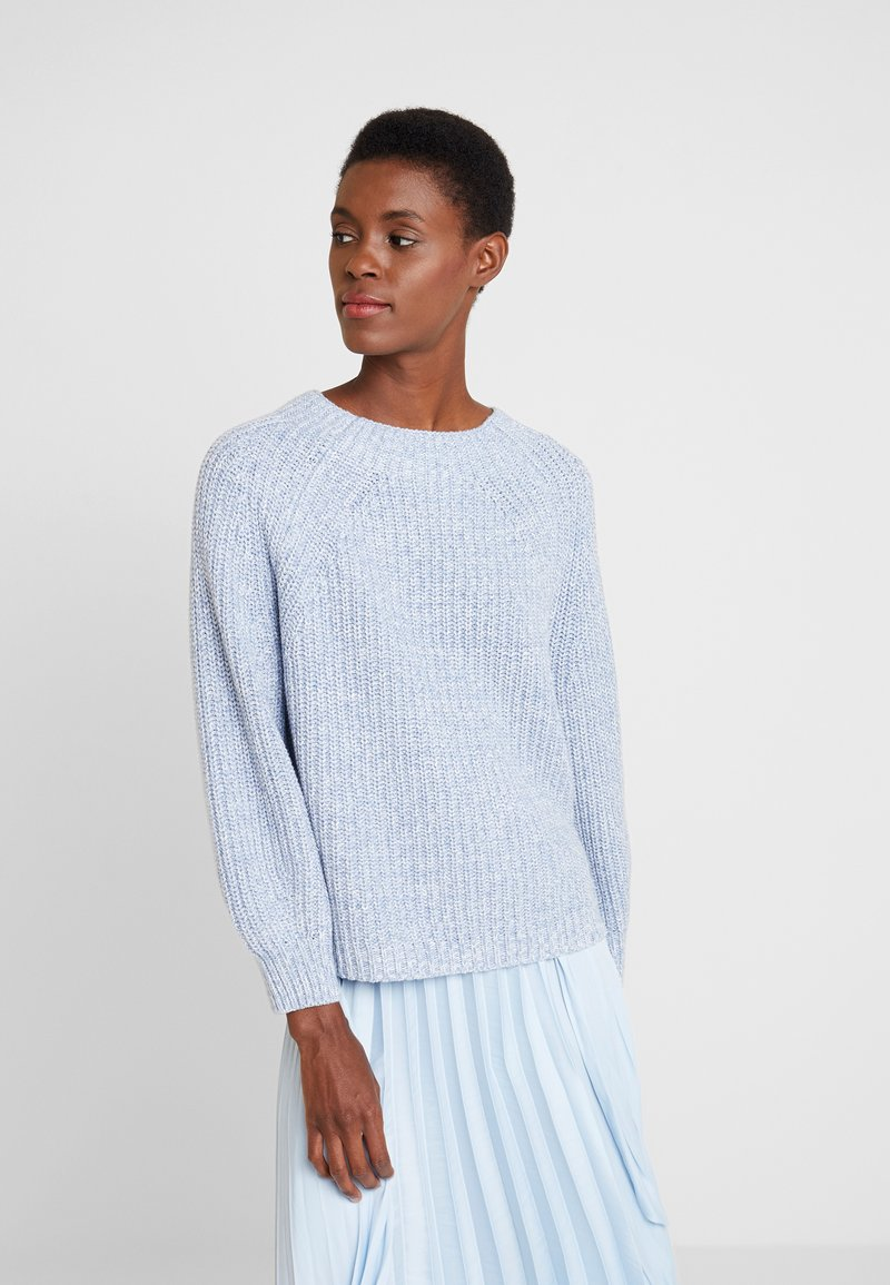 GAP - CROP MOCK - Strickpullover - light blue marl