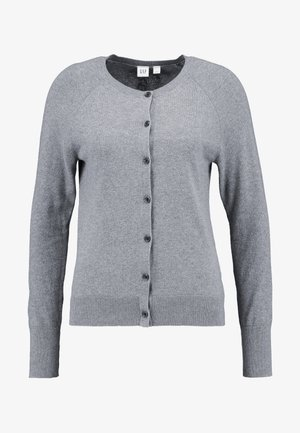SLIM CREW CARDI - Cardigan - medium heather grey