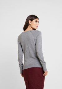 GAP - SLIM CREW CARDI - Cardigan - medium heather grey - 2
