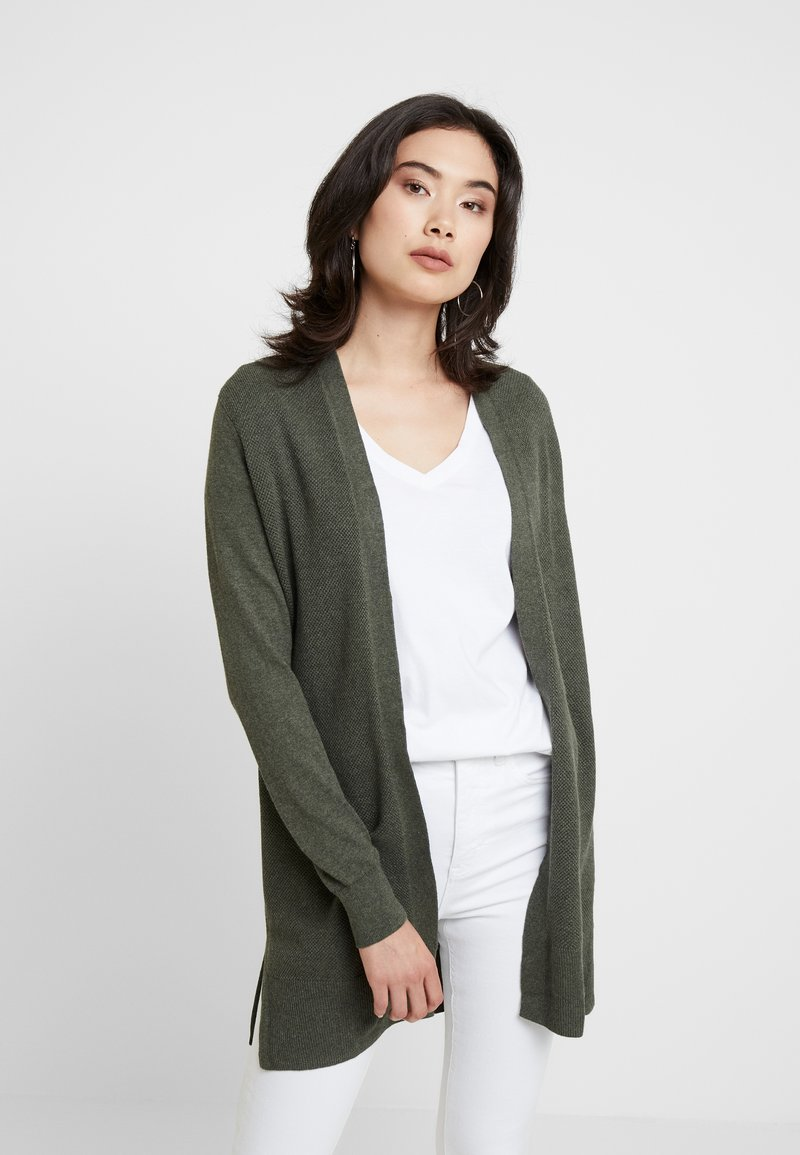 GAP - BELLA OPEN THIRD - Strickjacke - olive heather
