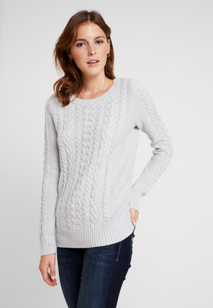 CABLE CREW - Maglione - light heather grey