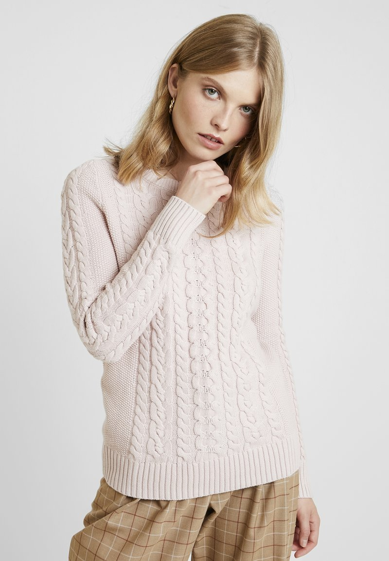 CrewPullover Cable CrewPullover Dull Gap Gap Cable Rose Dull Rose Gap Ybfy76g