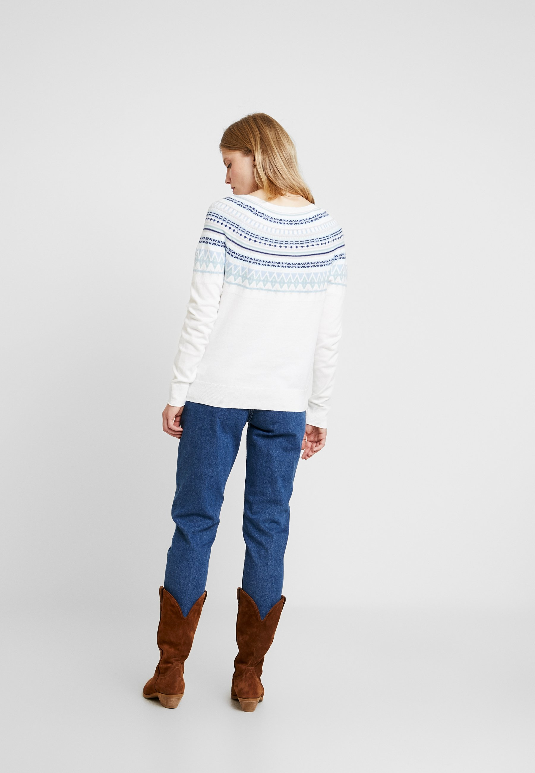 Gap Fairisle Milk Gap CrewPullover Global mN80Onwv